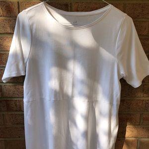 NWOT J. Jill Pima Shirt tail Tee Shirt